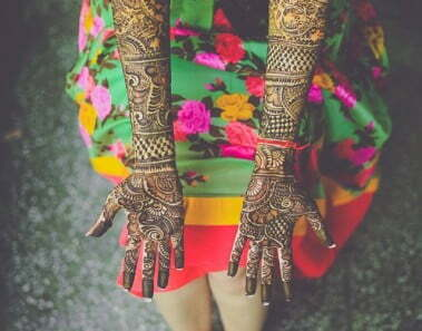 8 Themes to choose from, for the Bridal Mehendi