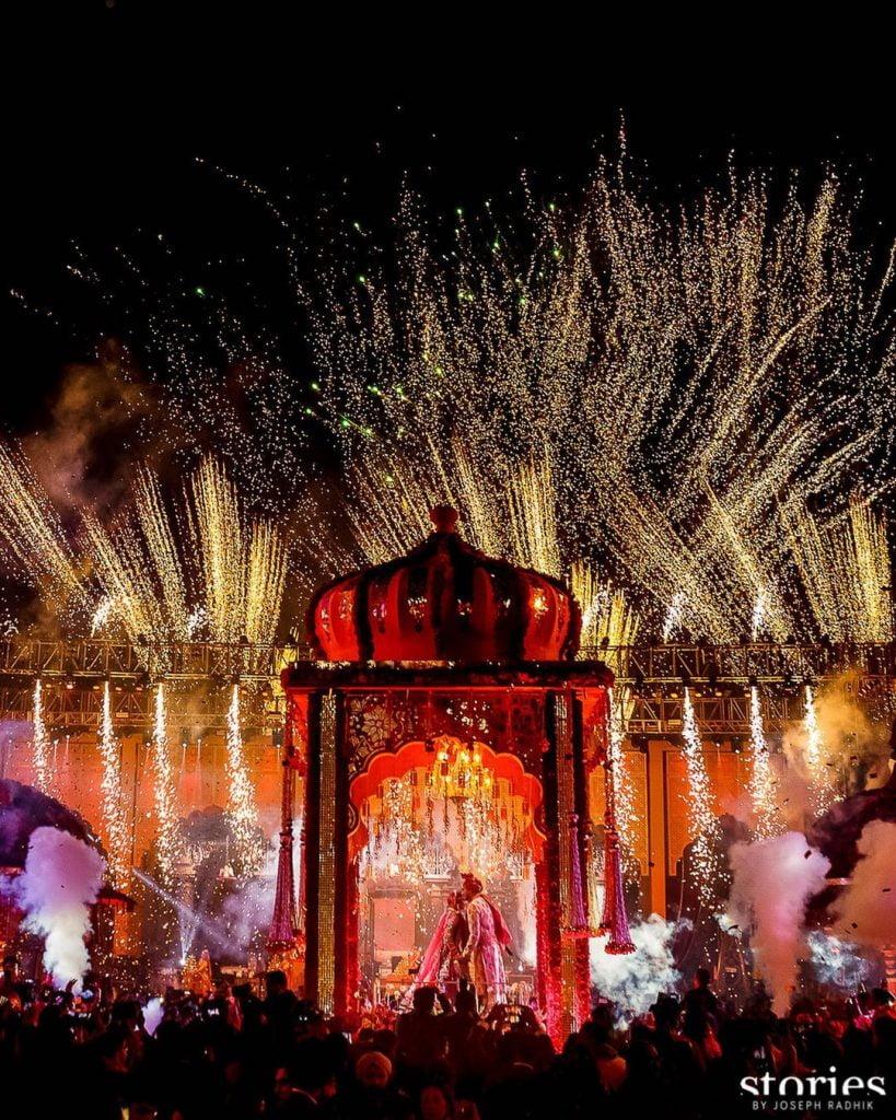 fireworks and cold pyro jaimala themes ideas