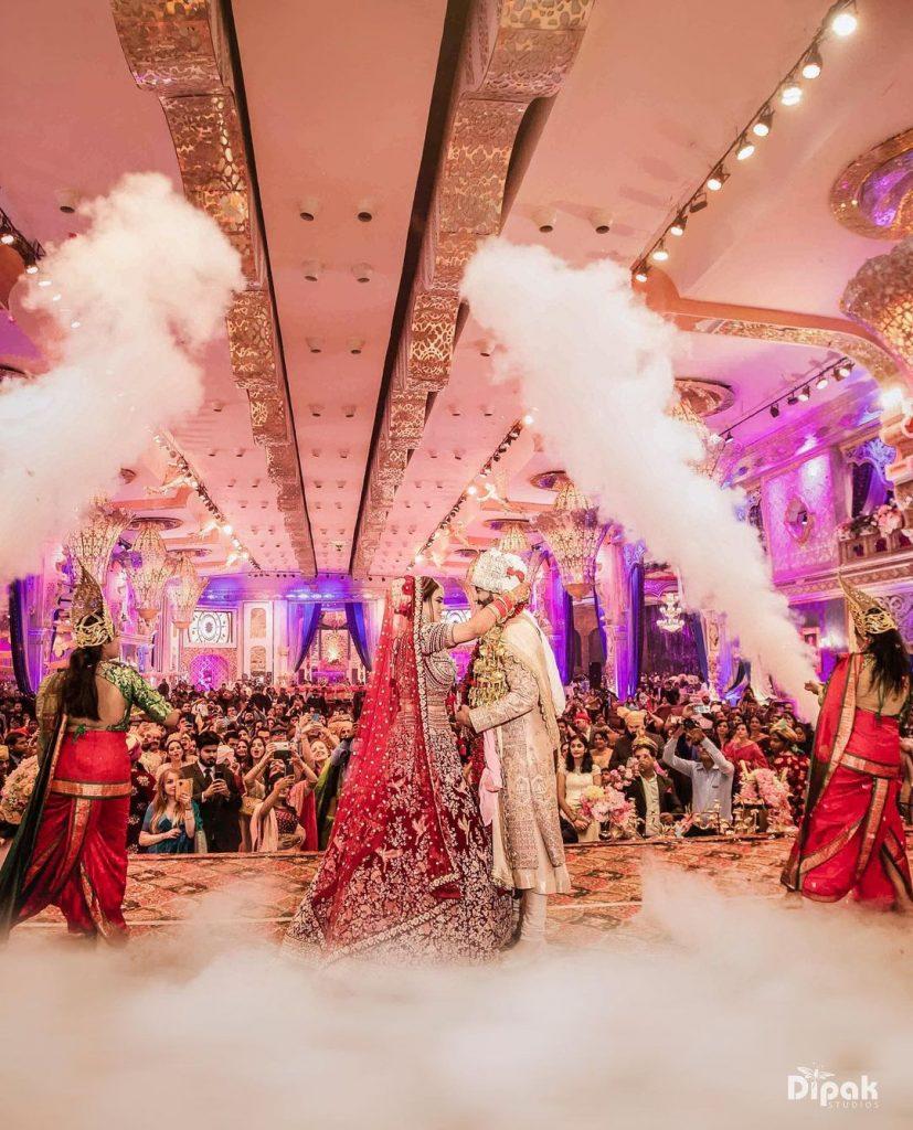 low fog machine wedding jaimala stage