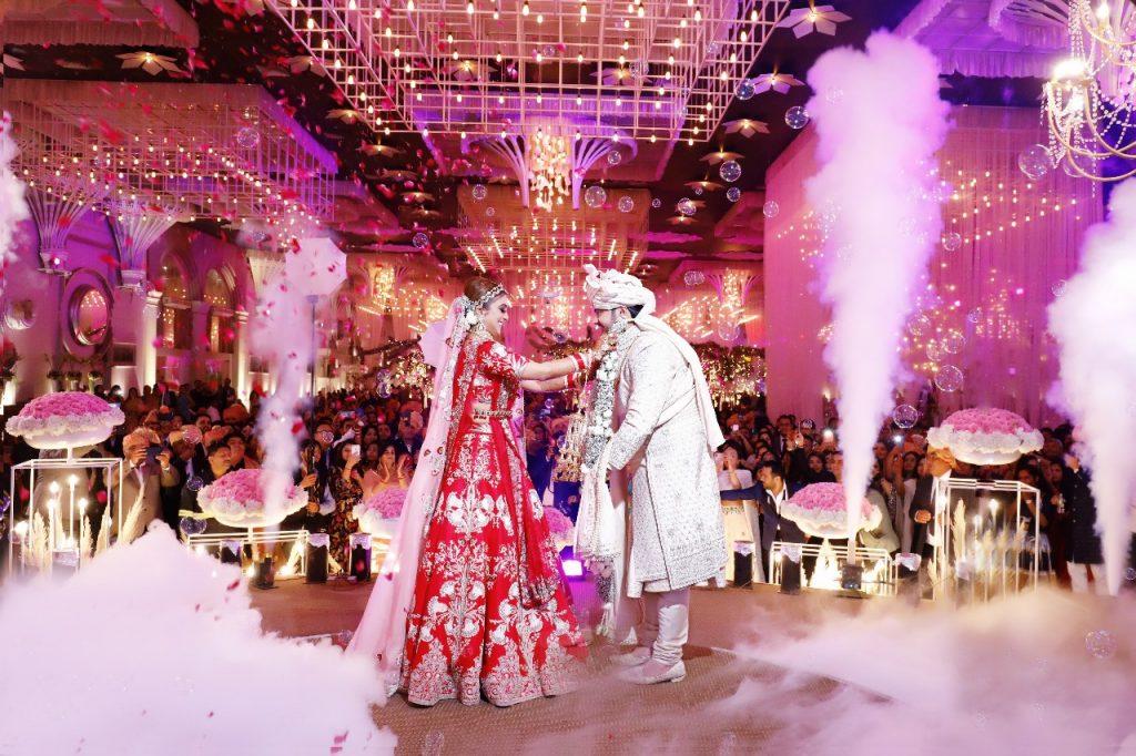 low fog machine wedding varmala creative ideas