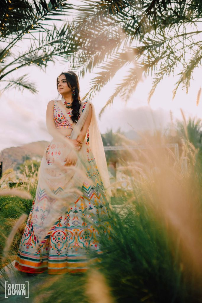 Mrighna's Solo Portrait Picture in her Mehendi Ceremony at the Intercontinental Resort Fujairah