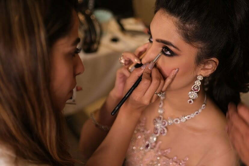 Bhavika's breathtaking engagement makeup.