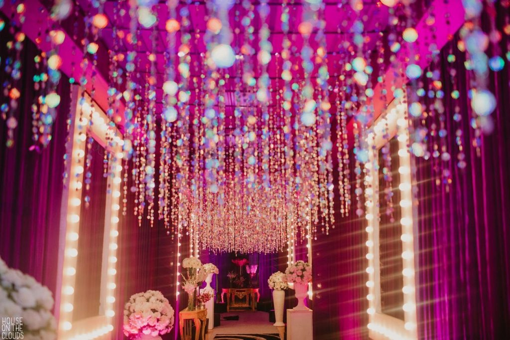 Glitz and Glam Theme Sangeet Night at Ananata Udaipur for Palak & Pankaj's wedding