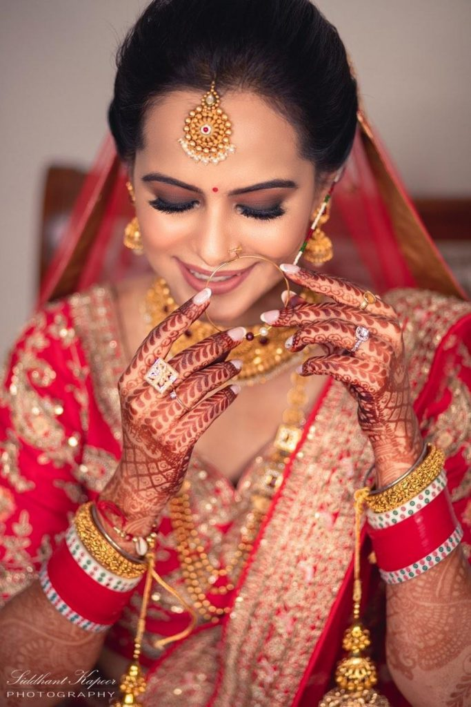 Nidhi Tiwari Matte gradient brown smokey eye makeup