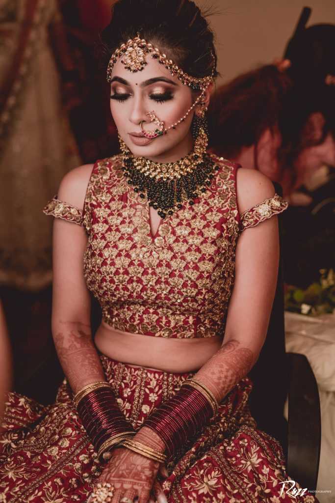 Indian Bridal Smokey golden brown cut crease with fluttery lashes eye makeup look for 2020
