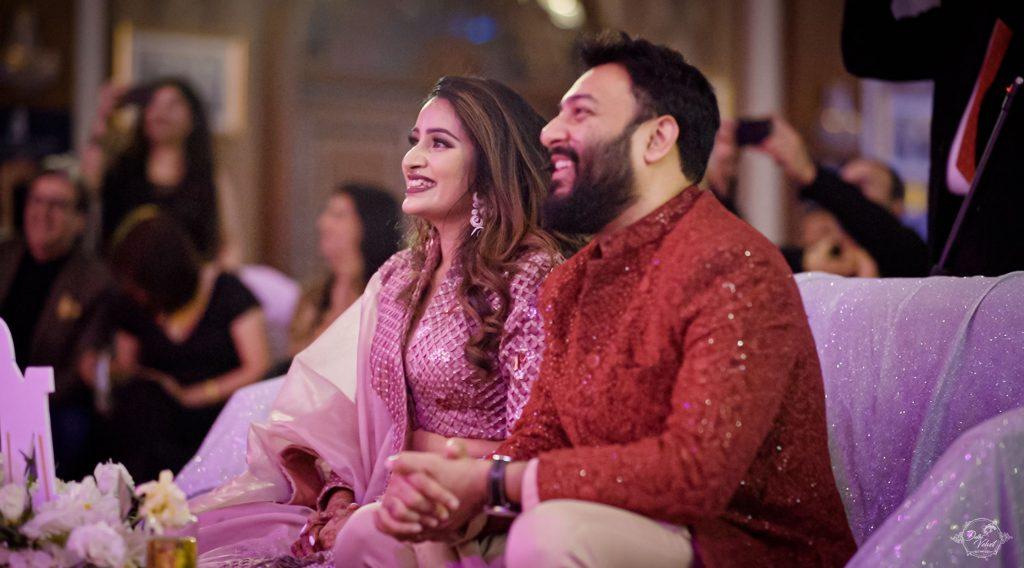 Nikita & Puneet sangeet ceremony candid photograph