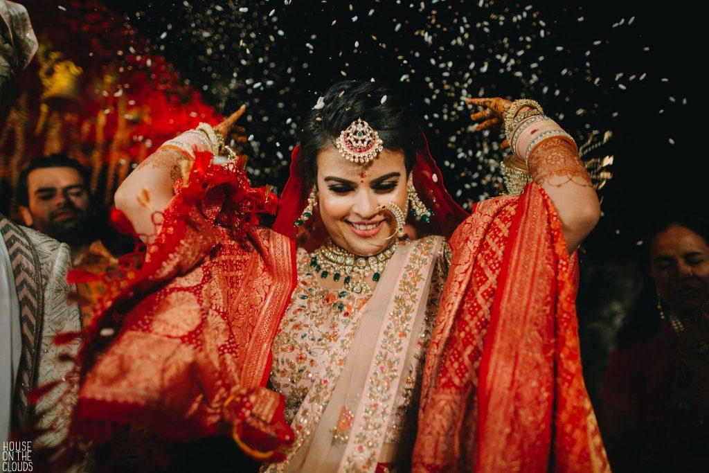 Palak candid wedding ceremony photoshoot in bridal designer lehenga