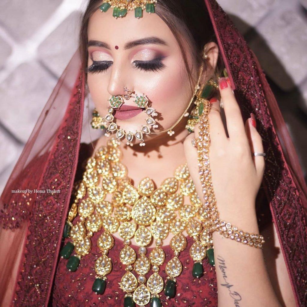 cut crease glitter bridal eye makeup and dramatic lashes by hema