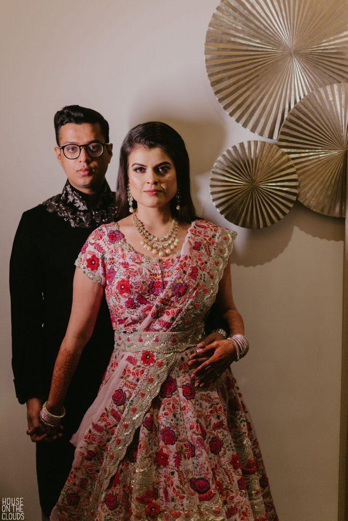 Palak & Pankaj sangeet ceremony photoshoot in Bridal Designer Outfits
