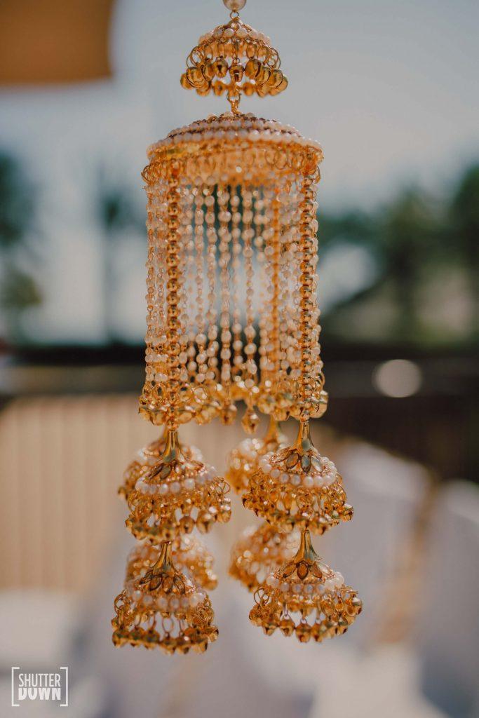 Ra Abta by Rahul designed gold hanging kaleeras