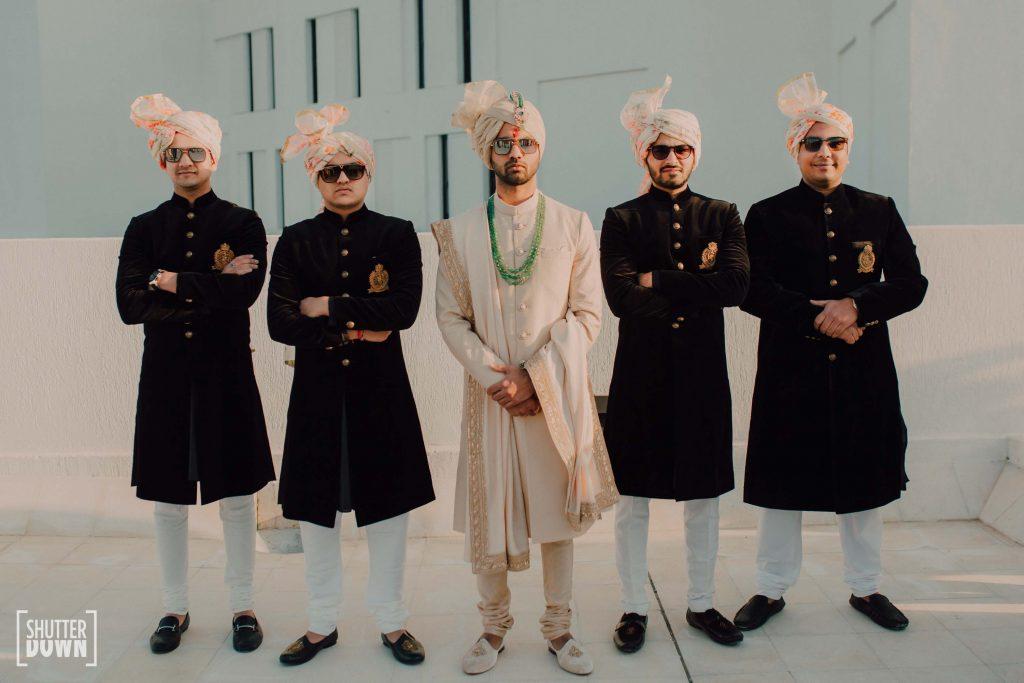 Shutterdown Photography groomsmen photoshoot for destination beach wedding in dubai