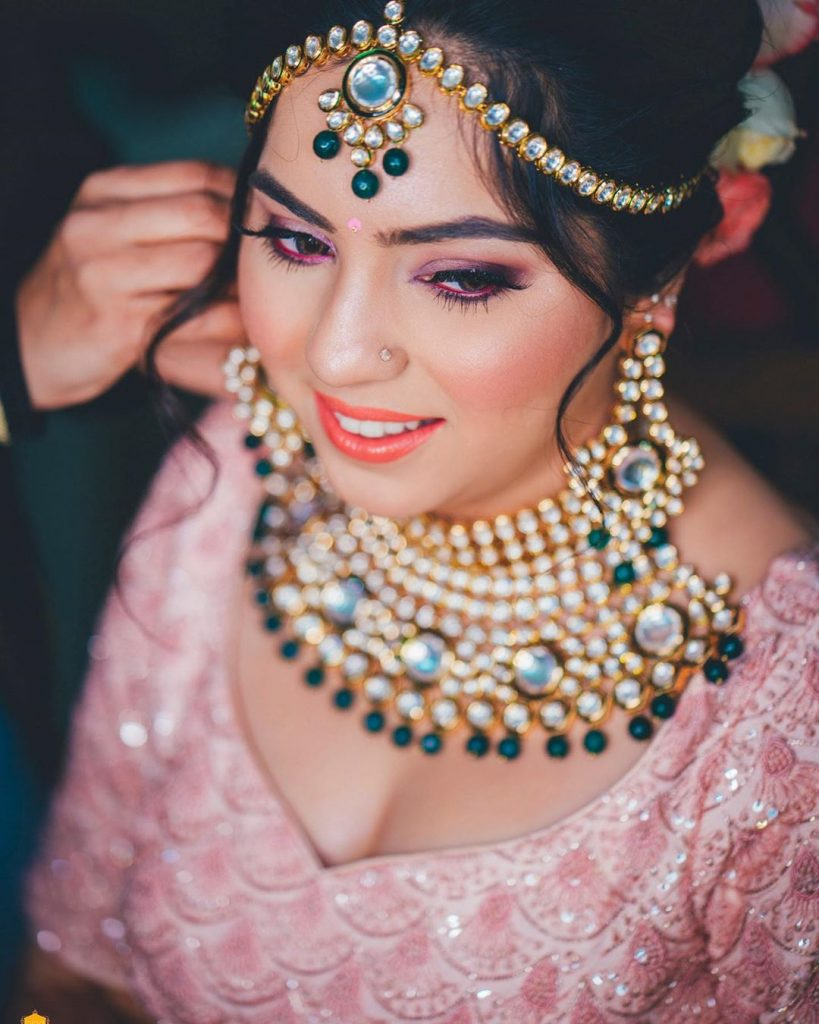 pink eyes with pink kajal by AbhiSakshi Photography