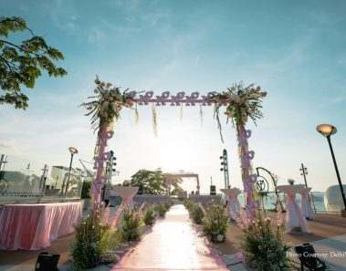This Beach Wedding in Pattaya with an Aisle Decor in Pink Hues is Jaw-Dropping