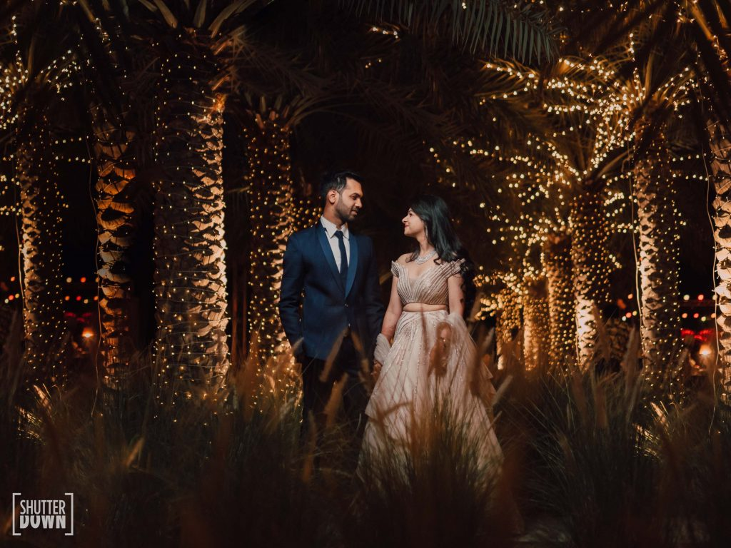 couple photoshoot for destination beach wedding engagement ceremony in Intercontinental Fujairah Resort, UAE