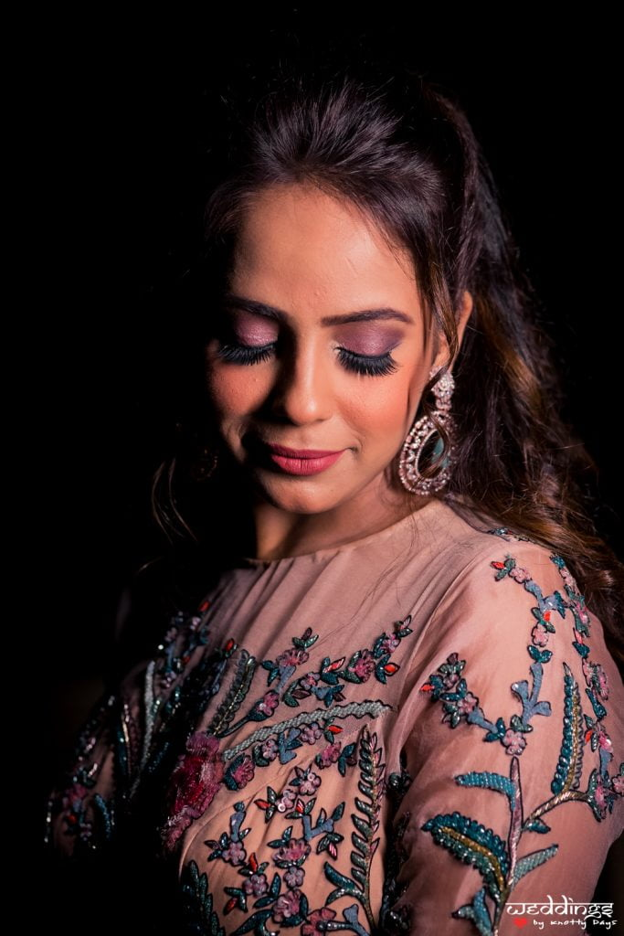 matte mauve purple eye makeup for wedding ceremonies