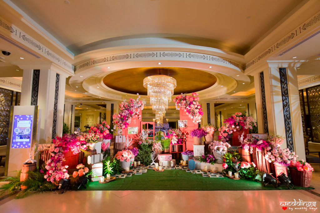 Entrance Floral Decor for this Marwari Couple's Dusit Thani Hua Hin Wedding