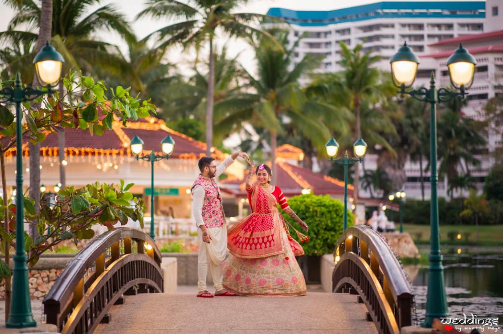 Scenic Post Mehendi Shoot for this Dusit Thani Hua Hin Wedding