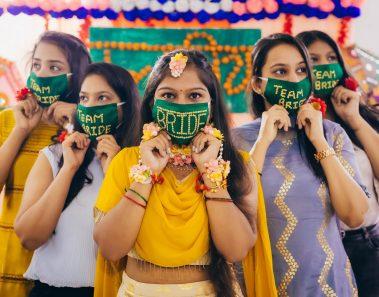 50 Super Stylish Bridal Face Masks Ideas for your 2020 Intimate Wedding