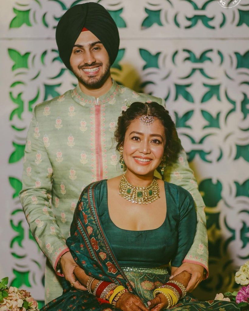 rohanpreet and neha kakkar mehendi pictures