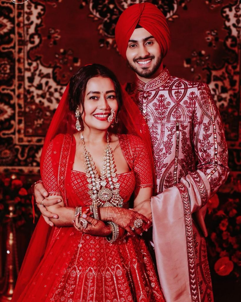 neha kakkar and rohanpreet wedding portrait