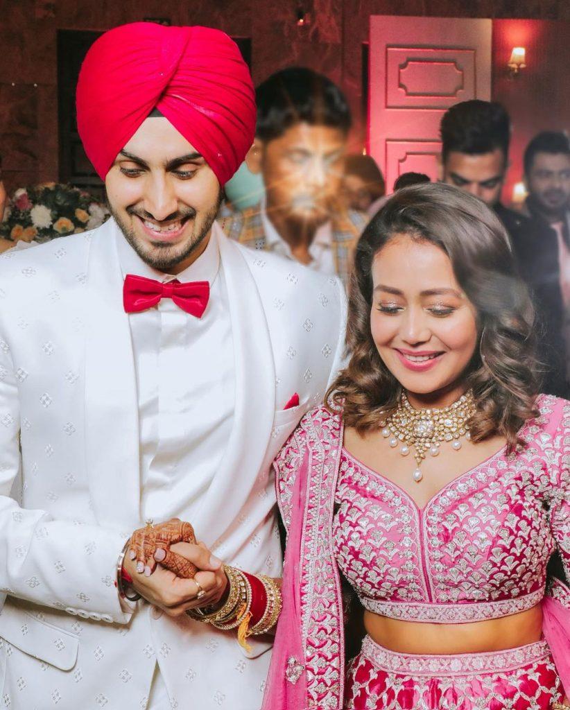 neha rohanpreet engagement ceremony candid