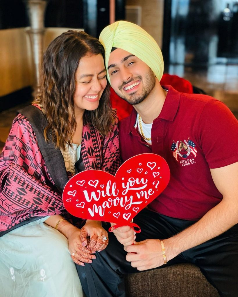 neha and rohanpreet singh proposal