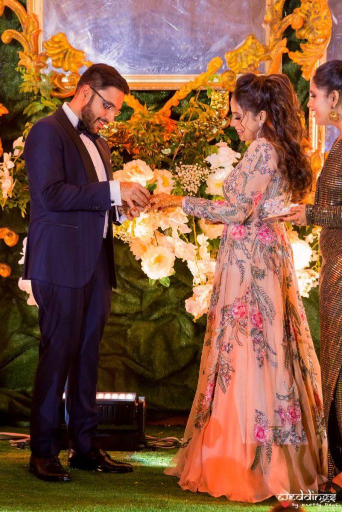 Shalini & Akhil's engagement pic at their Dusit Thani Hua Hin Thailand Wedding