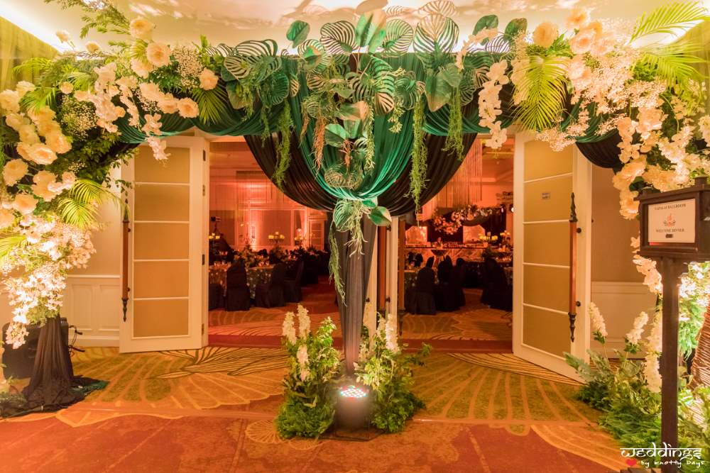 fairytale entrance design for a Thailand destination wedding