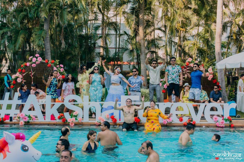 Pool Party Fun for Shalini and Akhil at Hua Hin, Thailand