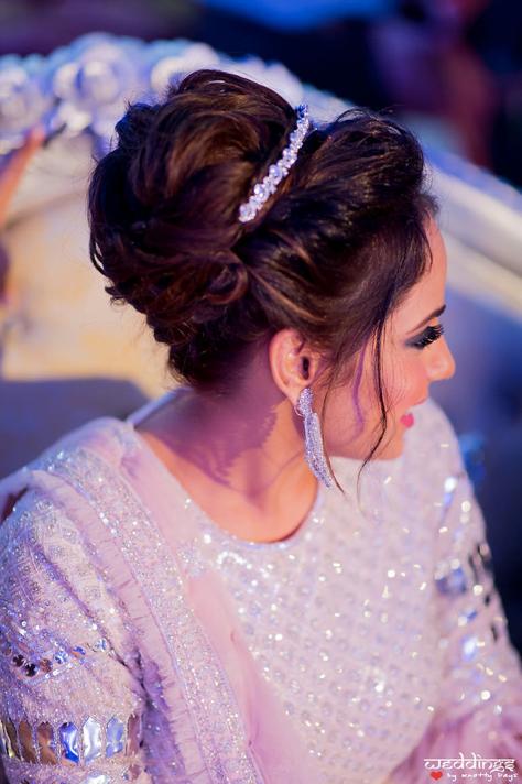 Princess-like bridal hairstyle for Shalini's Sangeet at Dusit Thani Hua Hin, Thailand