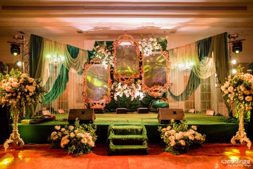 Enchanting vintage fairytale engagement stage at Akhil & Shalini's Hua hin wedding
