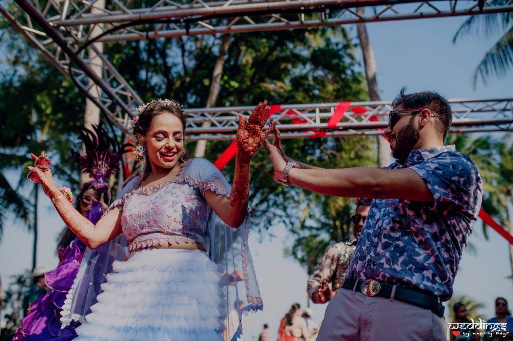 Shalini and Akhil dancing at their Pool Party at Dusit Thani Hua Hin Wedding