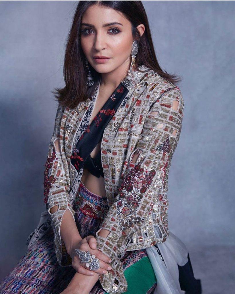 Anushka Sharma's blazer jacket with ghagra choli