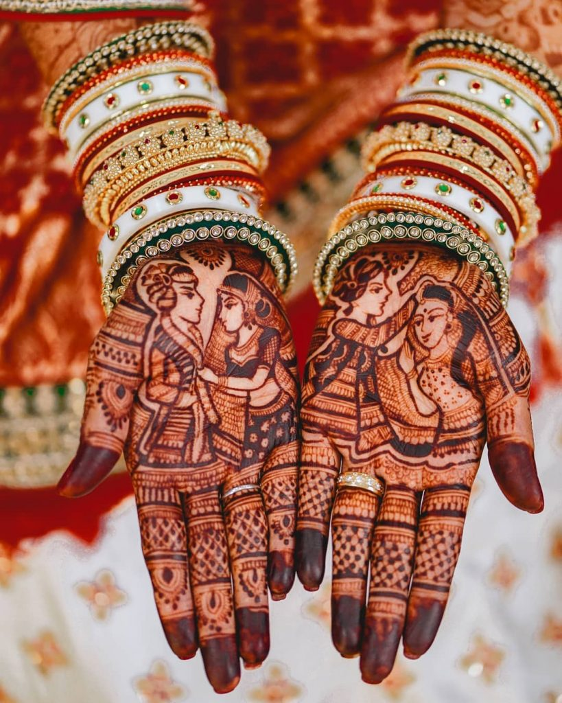 Wedding Ritual Bridal Mehendi for Front Hands