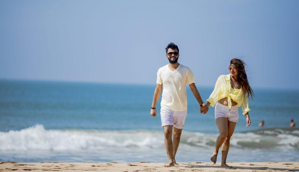 beachside couple shoot