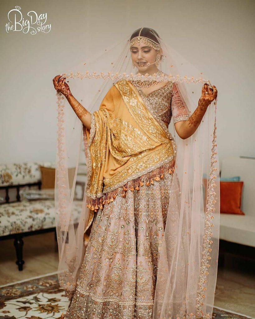 bright colour lehenga cream mustard colour combinations bridal colours