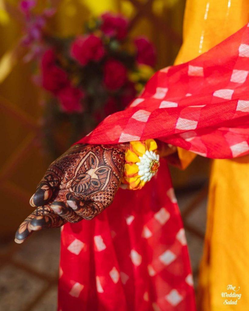 Dhol Motifs for front hand bridal mehendi