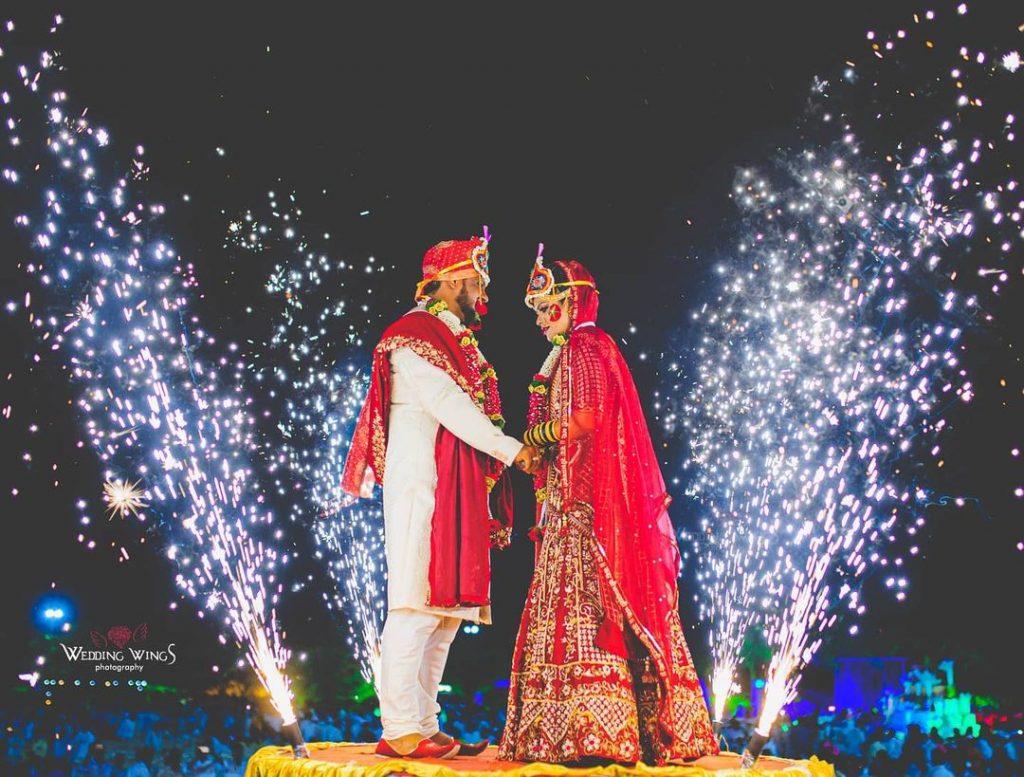 hydraulic wedding jaimala theme stage