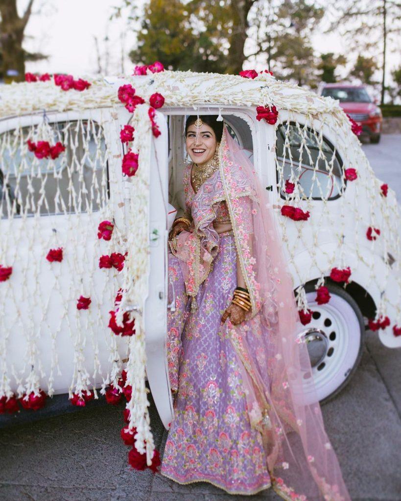 lilac lehenga combinations light colour bridal lehenga