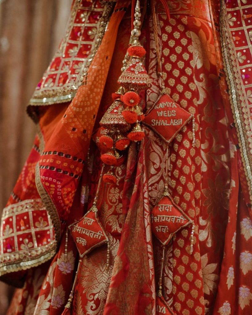 Matching coloured lehenga latkan