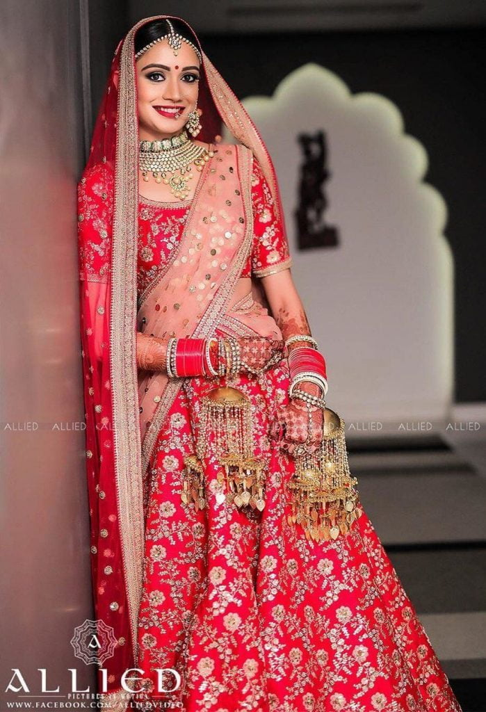 red and pink combinations latest lehenga trends 2020