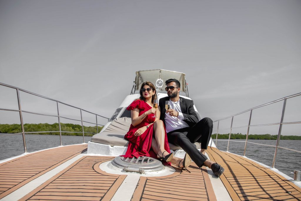 seaside photoshoot on a boat