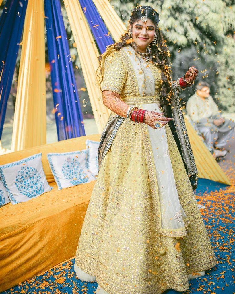 yellow lehenga color combination trends for 2021