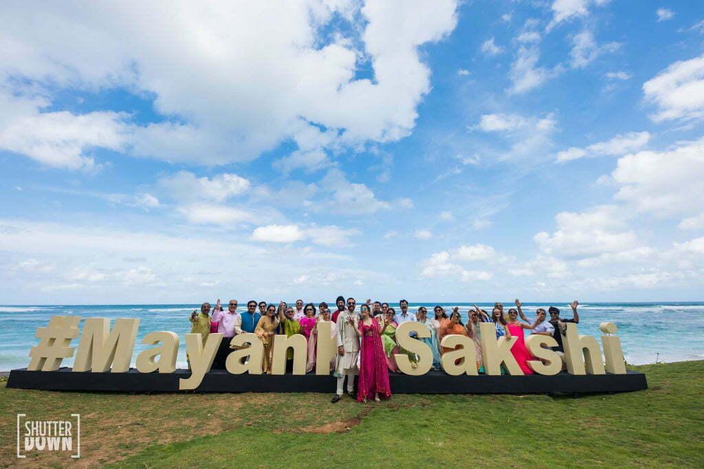 beach mehndi decoration ideas with wedding hashtag
