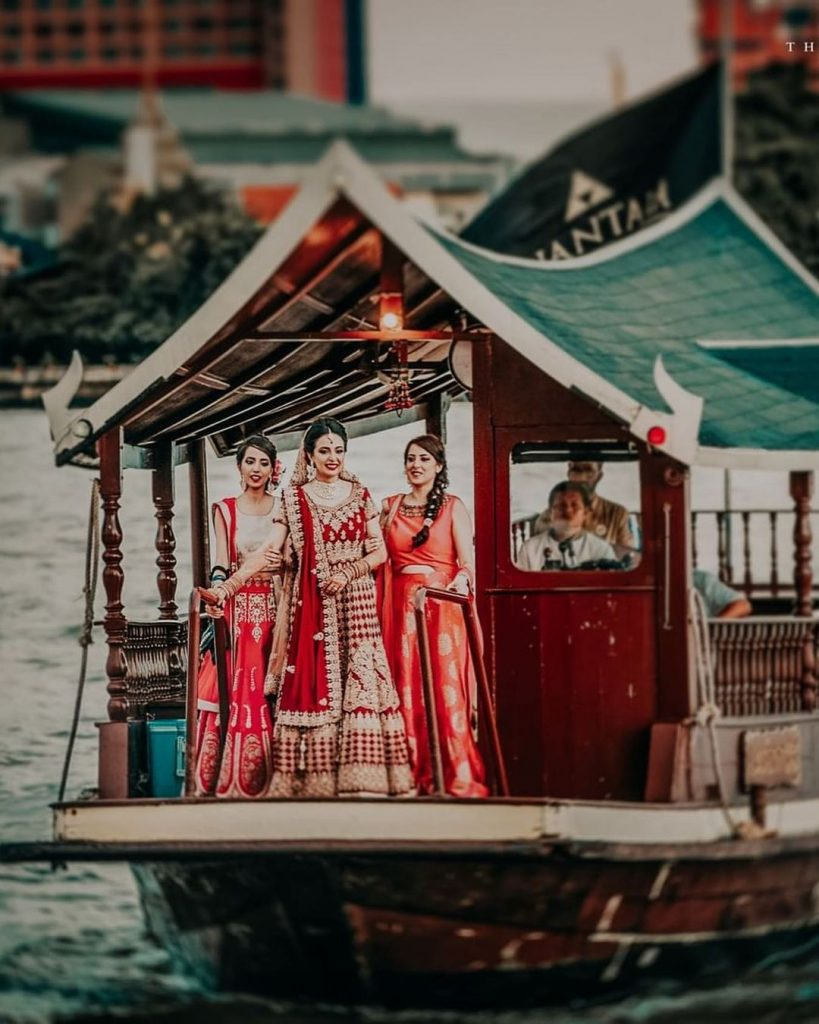 bridal entry in a house boat