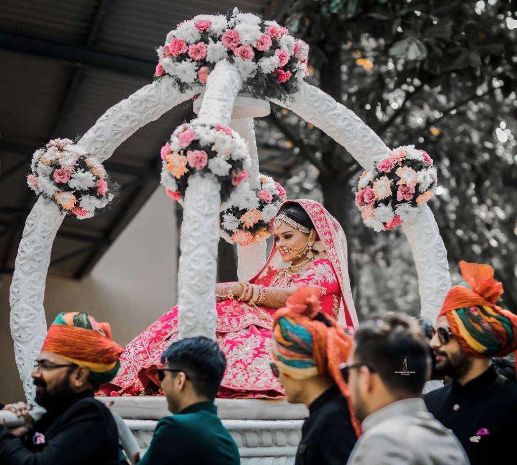 unique bridal entry doli