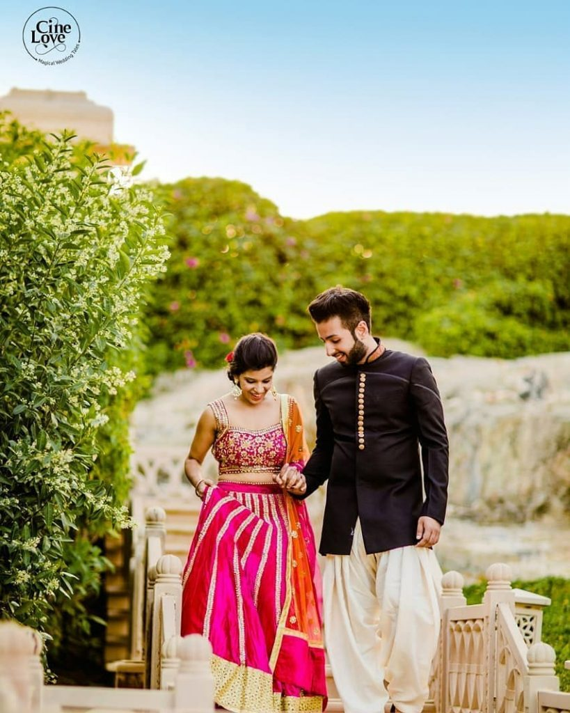 cute wedding couple entry ideas for sangeet