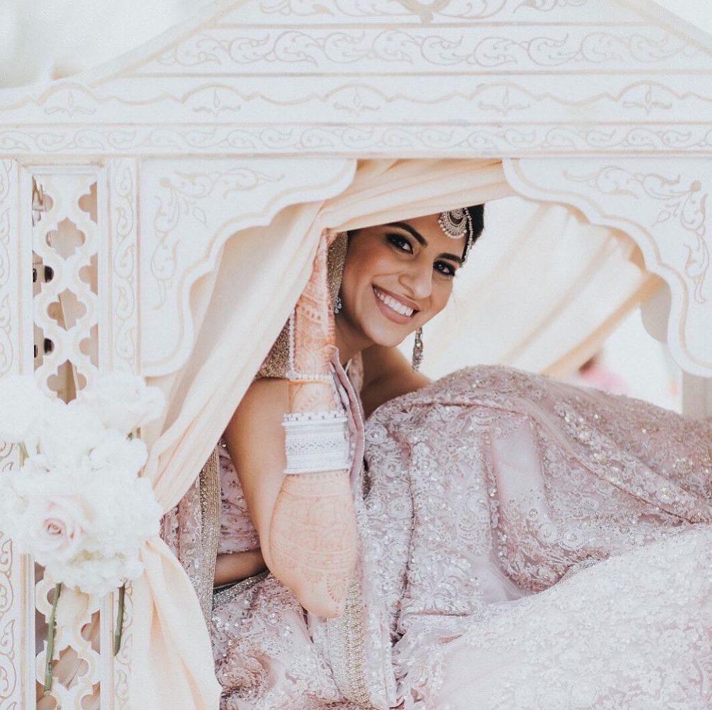White Palki Bridal entry