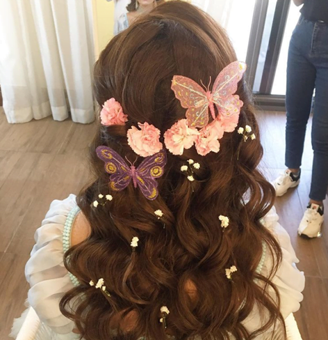 quirky butterfly hair accessory