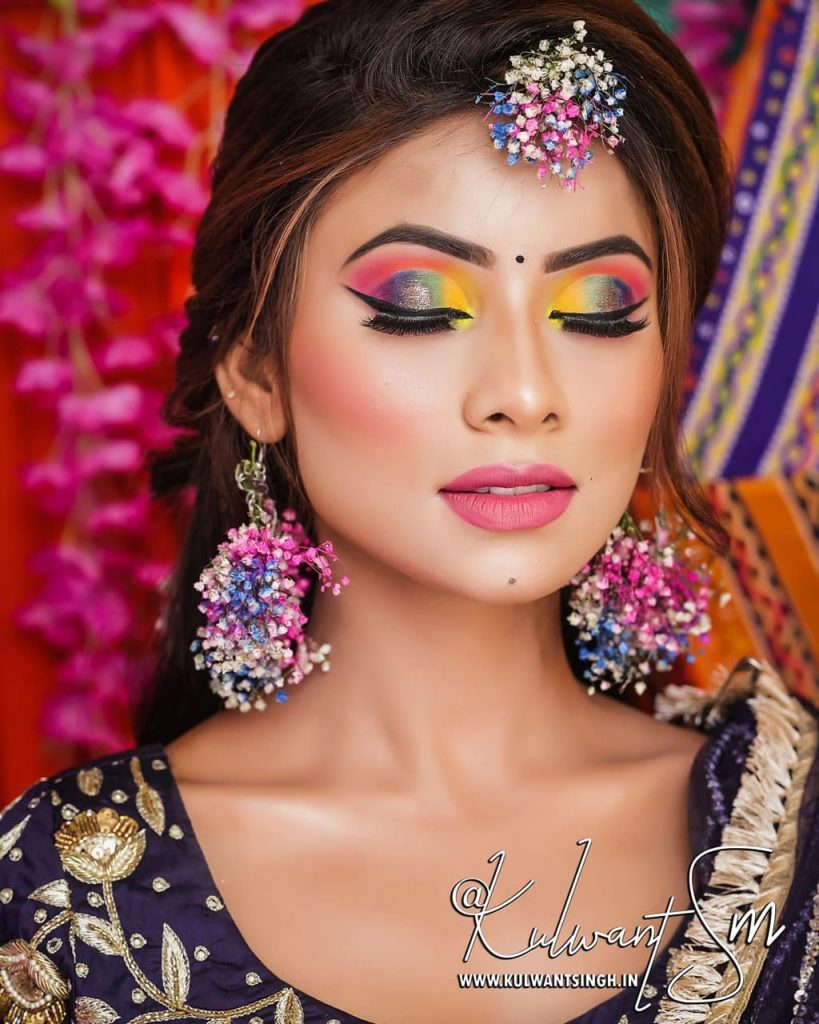Vibrant colorful jewelry for your mehendi or haldi ceremony